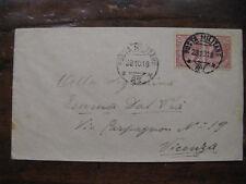 POSTA MILITARE 97 BUSTA AFFRANCATA SPEDITA DA MAROSTICA 28.10.1918 #XP432L