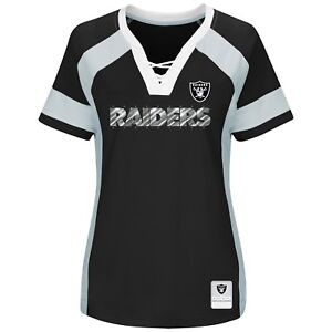 NFL Oakland Raiders Majestic 2017 Draft Me Fashion Top - Women's T-Shirt