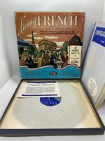 """Vintage Living FRENCH A Complete Language Course 1955 40 Lessons on 4-10"""" Vinyl"""