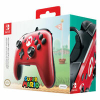 PDP Faceoff Mario Wired Pro Controller for Switch - Red