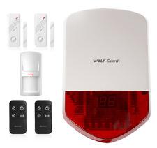 Wolf-Guard Home Alarm Burglar System 110dB Siren PIR Motion Detector Door Sensor