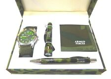 Army Watch Torch Wallet Pen Set
