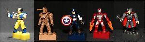 MEGA BLOKS Marvel Series 2 Wolverine Thor Captain America Iron Man MARK V Drone