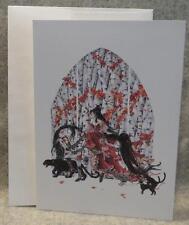 NENE THOMAS Fairy Note Greeting Card FAERY OF BLACK CATS Fantasy Mythical