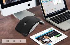 Foldable Wireless Mouse 2.4G Wireless Folding Mouse ARC Mouse black