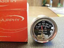 MURPHY OIL PRESSURE GAUGE 0 - 400 PSI MURPHY OIL PRESSURE GAGE NEW