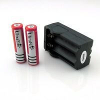 2 x Rechargeable 18650 Battery 4000mAh 3.7V Li-ion+Smart Dual Recharge Charger