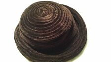 Ladies Brown Hat One Size Fits Most Polyester Wide Brim