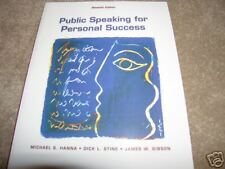 Public Speaking for Personal Success 7th Ed. New