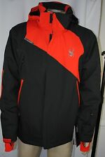 NEW Mens Spyder Rival Insulation Waterproof Ski Black Jacket SIZE M