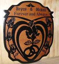Personalized Wedding WOOD Sign Family Name Established..LASER Engraved.Gift.