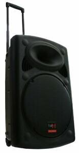 B-WARE E-Lektron EL38-M 900W PA Soundanlage Akku-MP3-USB Rollkoffer Soundsystem
