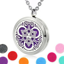 Stainless Steel Aromatherapy Essential Oil Diffuser Locket Necklace Celtic Knot