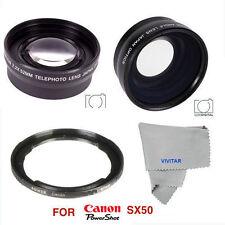 HD WIDE ANGLE LENS + MACRO LENS +2X TELEPHOTO ZOOM LENS FOR CANON POWERSHOT SX50
