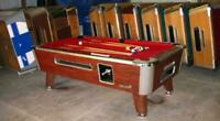VALLEY COMMERCIAL COIN-OP 8' POOL TABLE MODEL ZD-4 NEW RED CLOTH