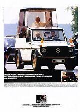 2001 Mercedes Benz G500 Popemobile Original Advertisement Print Art Car Ad J589