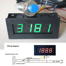 Digital LED Punch Tachometer Drehzahlmesser Speed+Hall Proximity Switch Sensor G