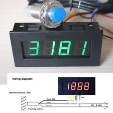 Digital LED Punch Tachometer Drehzahlmesser Speed+Hall Proximity Switch Sensor G