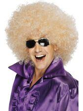 Afro Wig Mega-huge Blonde by Smiffys Fancy Dress 42035