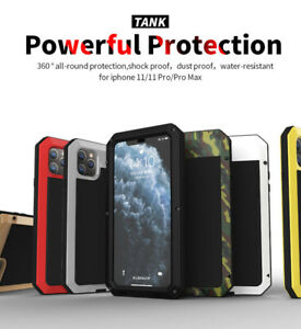 R-JUST Heavy Duty Metal Aluminum Tank Case Cover For iPhone XR XS X MAX 7 8 Plus