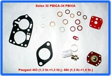 Solex 32 PBICA - 34 PBICA, Carburettor Rep. Kit, Peugeot 403, 404 etc.