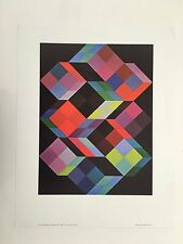 VICTOR VASARELY,'TRIDEM-K' ,1968' RARE AUTHENTIC 1980's ART PRINT