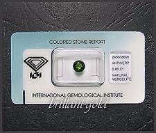Verdelith mit IGI Zertifikat, 0.80 ct Rund, Echter Edelstein in versiegelter Box
