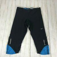Niki Dri fit sz s cropped pants workout capris gym athletic black blue women's