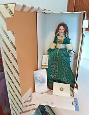 "FRANKLIN MINT SHAUNA PRINCESS OF BLARNEY CASTLE 18"" PORCELAIN DOLL W/COA & BOX"