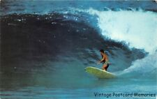 "WAIMEA BAY HI 1978 Surfer ""Shooting The Curl"" VINTAGE HAWAIIAN SURF GEM+++"