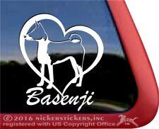 Love Basenji Heart | High Quality Vinyl Dog Window Decal Sticker
