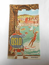 Vintage Shell Oil Company Oslo Norway Petrol Station Tourist Map (1961 ?)