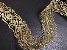 Vestido de encaje 1 Metros Moldura Oro Metálico Ribete de Disfraz de Costura Artesanía 45mm B 4 G 1 Gratis