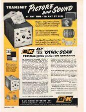 1957 B&K Model 1050 Dyna-Scan Video Audio Generator TV Repair Vtg Print Ad