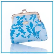 avon blue floral coin purse new in pack