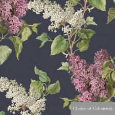 Designer Upholstery Curtain Vintage Floral Fabric Evening Garden Cotton Linen