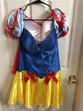 Women's Sexy Starline Sequin Snow White Princess Halloween Costume Plus Size 2X