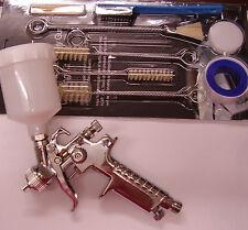 Mini Detalle Smart Repair Hvlp Spray Gun 0,8 mm & 13pc Kit De Limpieza