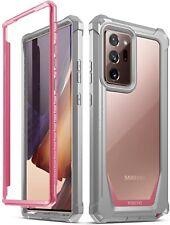 Galaxy Note 20 Ultra чехол , поэтическое гибридный противоударный бампер защитный чехол розовый