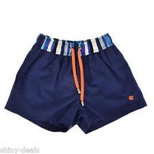 GALLO Nuovo Boxer Slip Blu Bambino Costume da Bagno 100% Cotone Size 3-4 anni