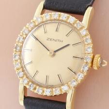 18k Yellow Gold Zenith Hand-Winding Women's Dress Watch w/ Diamond Bezel