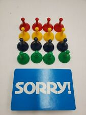 1972 Sorry! Hasbro Replacement Pieces Pawns Cards *YOU CHOOSE WHAT YOU NEED*