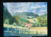 "Original Watercolor by Tennessee Artist Jeff Atnip, ""Tullahoma Hills"", 2004"