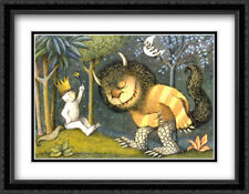 Where the Wild Things Are 2x Matted 28x22 Framed Art Print by Maurice Sendak