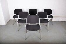 1960s Set of 6 Italian Giancarlo Piretti for Anonima Castelli Office Chairs