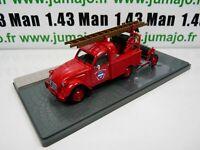 PU19T voiture 1/43 Eligor : CITROËN 2CV AZU-B pick-up pompiers + remorque