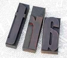 ART Holzbuchstaben Drucklettern Stempel Holzstempel Vintage shabby chic