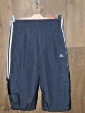 Adidas bermuda pinocchietto sportivo uomo blu e bianco tasche laterali taglia S