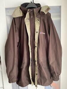 Bergaus Gorotex Mens Waterproof Brown Jacket Size M