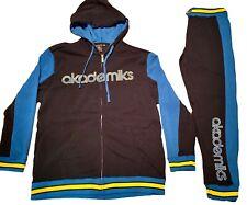 Akademiks tracksuit, urban hip hop jogging set, premium streetwear navy blue